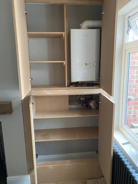 Alcove storage solution 2