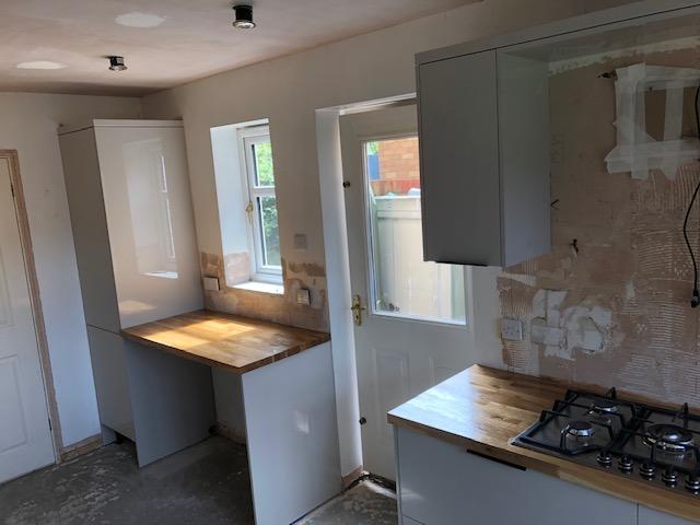 Kettering kitchen pre-tiling